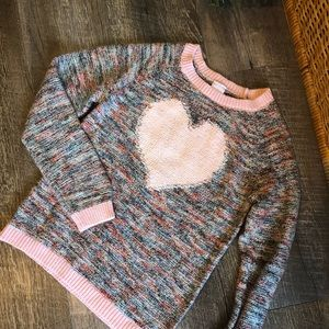 Cat & Jack Heart Sweater
